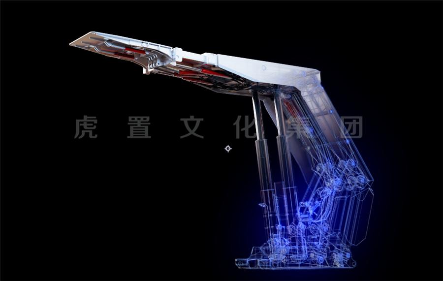 液压支架工业3D效果图