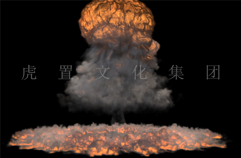 爆炸特效3D效果图